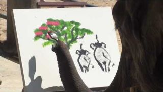 Elephants Painting: Genuine elephant Paintings