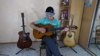 Обзор классической гитары Yamaha CS40 3/4 с импровизацией.